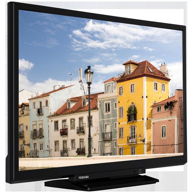 "24"" Toshiba Full HD WLAN TV Perspective-24480-vnb-ledbms-522black-clblack-black"