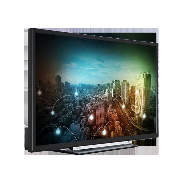 "24"" Toshiba HD Ready WLAN TV Perspective"