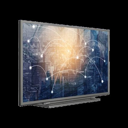 "39"" Toshiba Full HD WLAN TV Perspective Thumbnail"